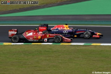 Vettel con un pié en Maranello