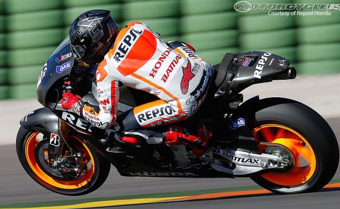 Márquez dominó en el cierre de los test en Valencia