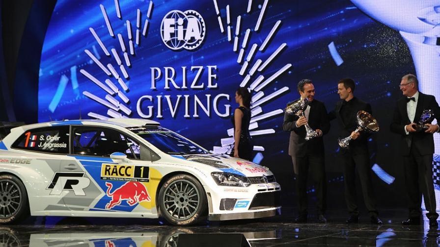 Ogier recibió el premio mayor