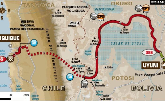 Dakar 2015 / Día 9: Cuatris y motos completan entre las dunas y sal