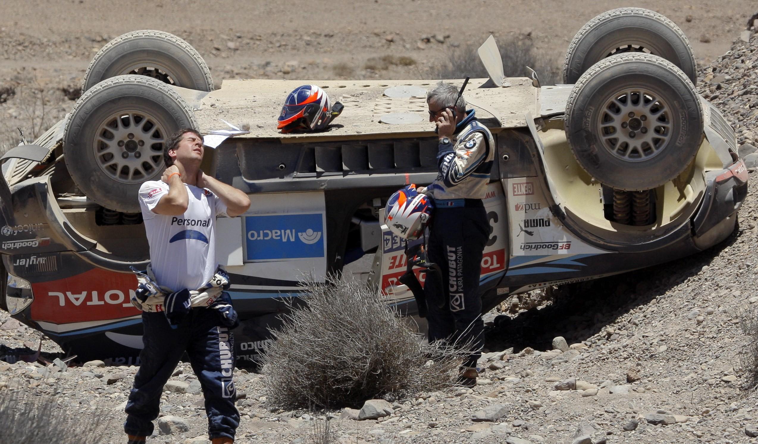 Dakar/Día 2: Al-Attiyah y Bort, los vencedores. Volcó Terranova y perdió el liderazgo