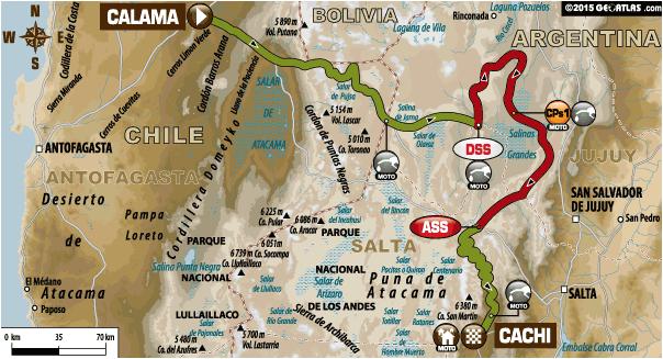 Dakar 2015 / Etapa 10: ya se corre Calama – Salta