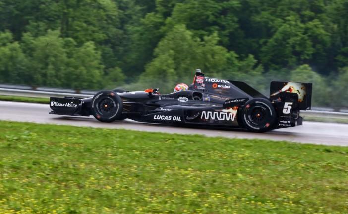 Indy Car: Hinchcliffe se quedó con el triunfo en una accidentada prueba en Nueva Orleans