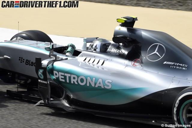 F1 Barhéin: ahora en los Libres le tocó a Rosberg