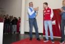 F1: Vettel agasajado en Maranello