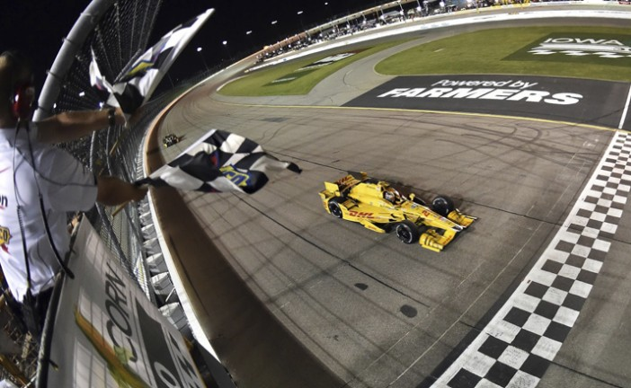 Indy Car: Hunter-Reay ganó en Iowa