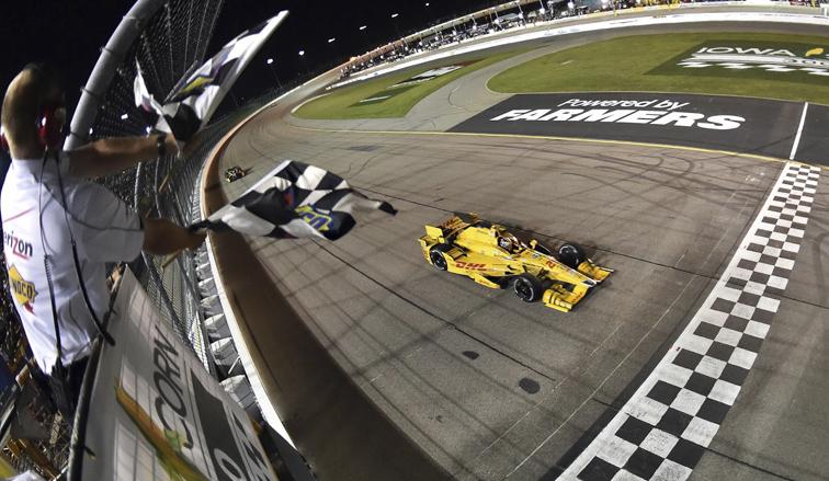 Indy Car: Hunter-Reay ganó en Iowa
