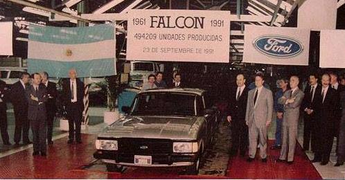 Un 23 Septiembre de 1991 salía de la Planta Ford de Pacheco el último Ford Falcon