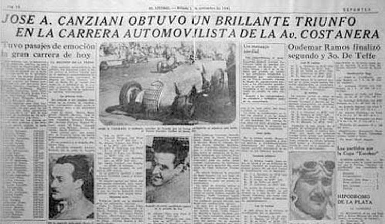 Un día como hoy pero de 1941, en la Costanera de Santa Fe, ganaba José Canziani