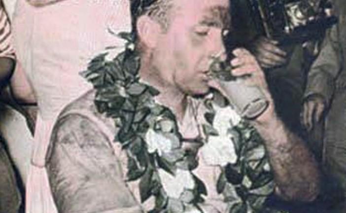 16 de Enero de 1955, Fangio ganaba y Froilán González era segundo