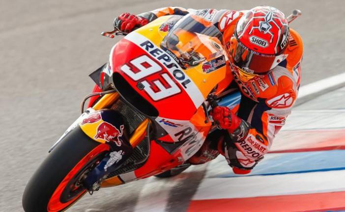 MotoGP: Marquez lidera los FP4 en Termas de Río Hondo