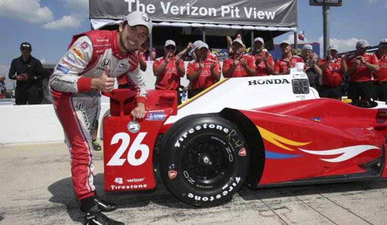 Indy Car: Primera pole position de Carlos Muñoz