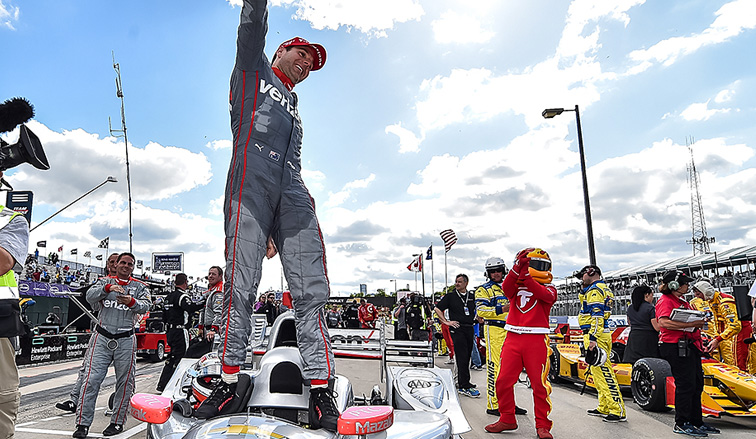 Indy Car: Will Power ganó la segunda carrera en Detroit