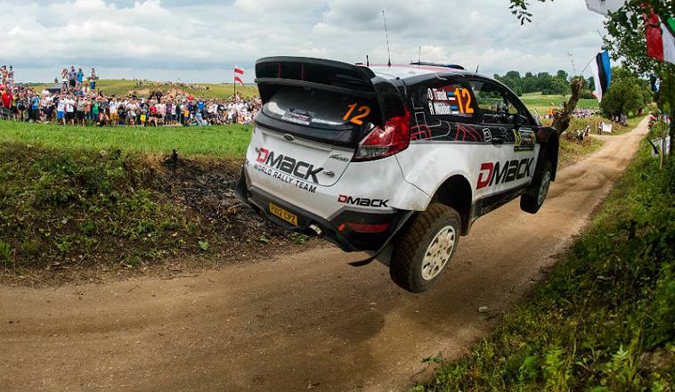 WRC: un brillante Tanak, lidera el rally de Polonia