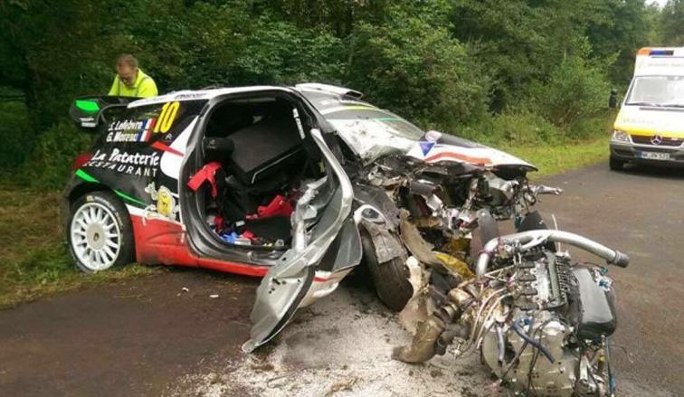 WRC: Lefebvre y Moreau heridos en un accidente