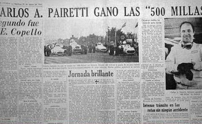 25 de agosto de 1968, Pairetti ganaba las 500 millas en Rafaela