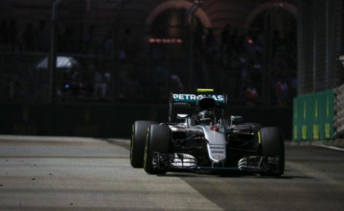 Fórmula 1: Rosberg brilló en la clasificación de Singapur