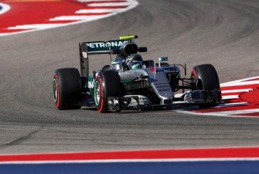 Fórmula 1: Rosberg responde en los Libres 2 de Austin con bandera roja incluida
