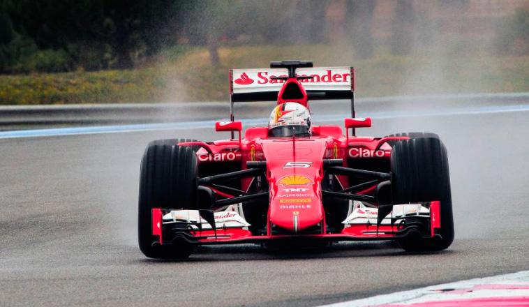 Fórmula 1: Vettel se estrella probando los nuevos Pirelli de agua