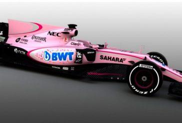 Fórmula 1: Force India firma un nuevo patrocinador y se pasa al rosa