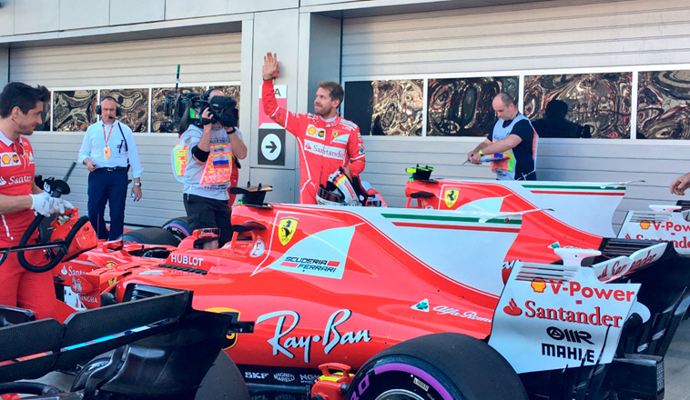 Fórmula 1: Pole para Vettel y doblete de Ferrari