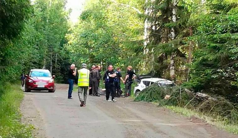 WRC: Ogier se accidenta en el test de Finlandia