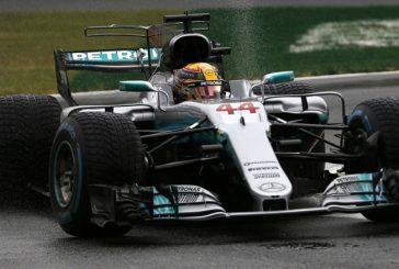 Fórmula 1: Pole de Hamilton en una clasificación pasada por agua