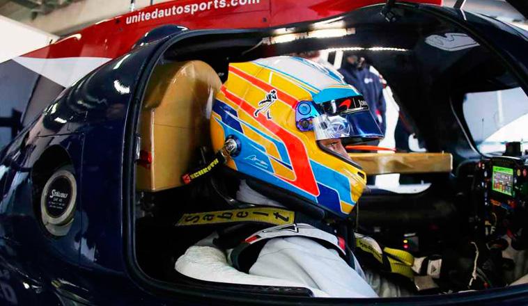 Alonso completó la jornada de test sobre el LMP1