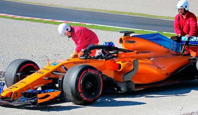 Fórmula 1: Otra vez se rompió el motor de Alonso