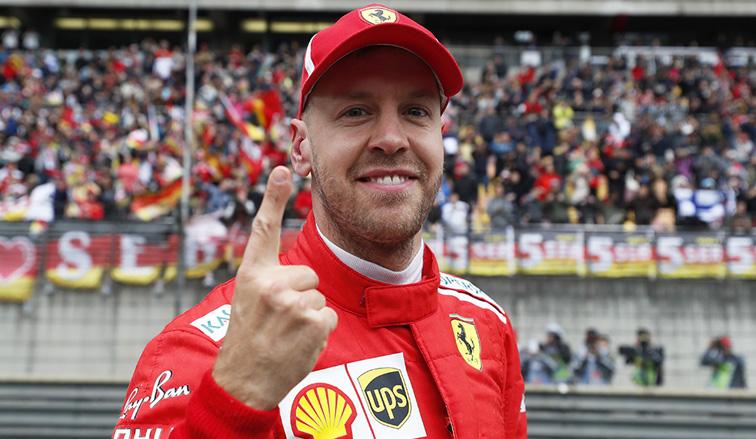 Fórmula 1: Pole para Vettel, doblete para Ferrari