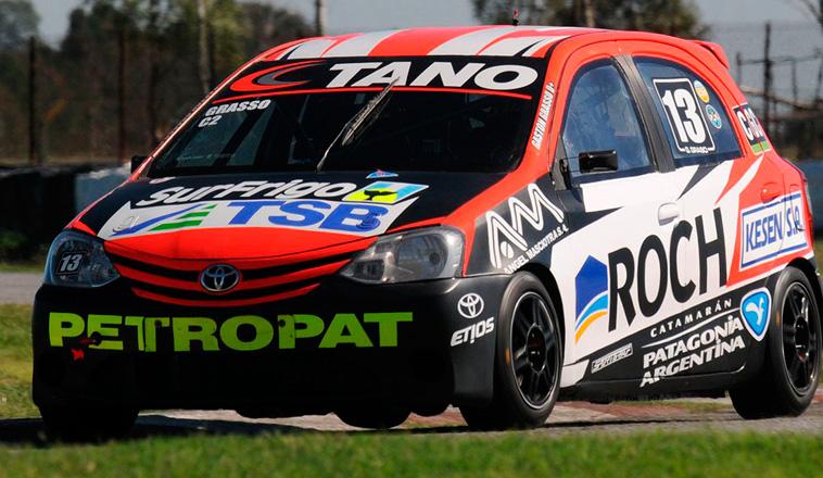 """TN C2: Grasso, el """"1"""" en la tarde de Neuquén, con el Toyota Etios."""
