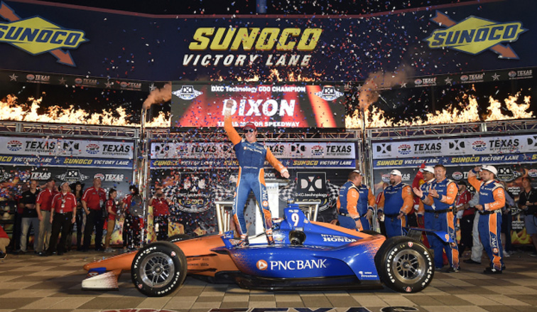 Indy Car: Dixon festejó por tercera vez en Texas