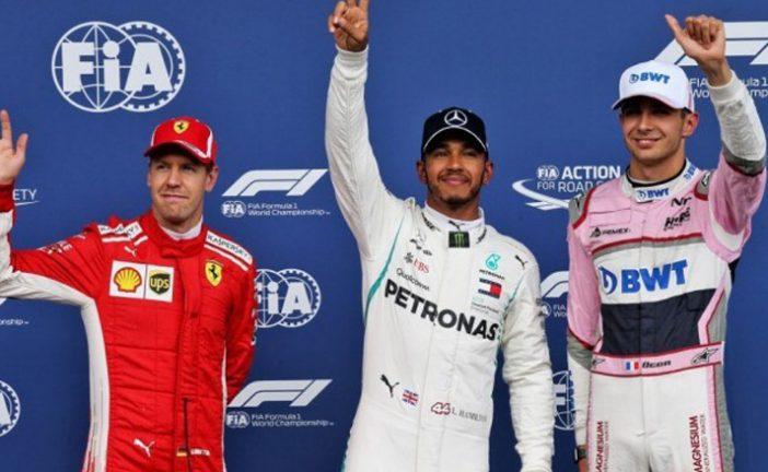 Fórmula 1: Hamilton se lleva la pole en una emocionante clasificación pasada por agua
