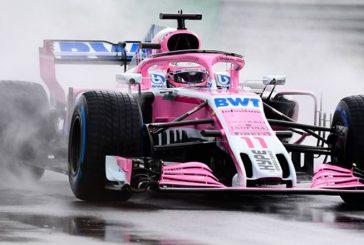Fórmula 1: Pérez lidera los Libres1 bajo la lluvia