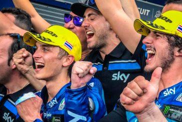 MotoGP: Bagnia en Moto2 y Di Giannantonio en Moto3