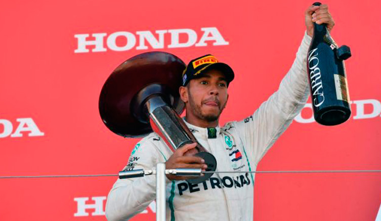 Fórmula1: Fórmula 1: Hamilton acaricia su 5º título
