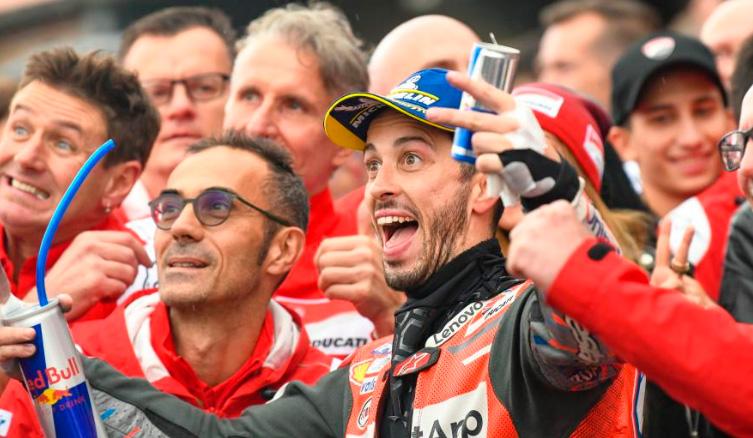 MotoGP: Dovizioso vence bajo la lluvia, Rins y P.Espargaró suben al podio