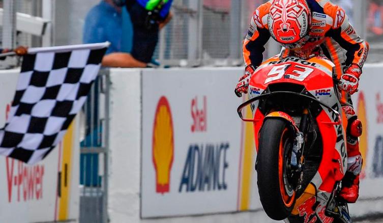 MotoGP: Márquez fuerza el error de Rossi para ganar en Sepang