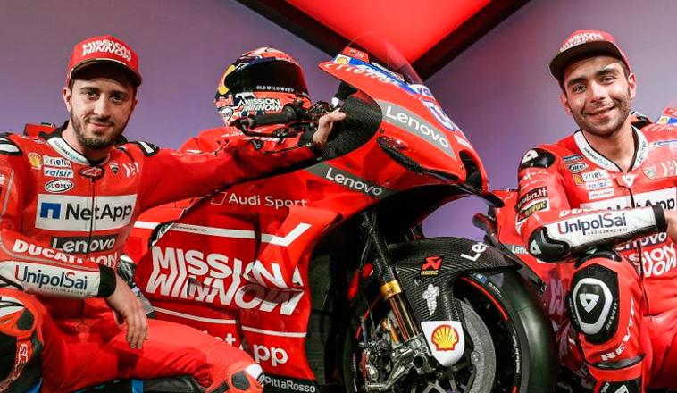 MotoGP: Ducati presenta su equipo 2019… más italiano y más rojo