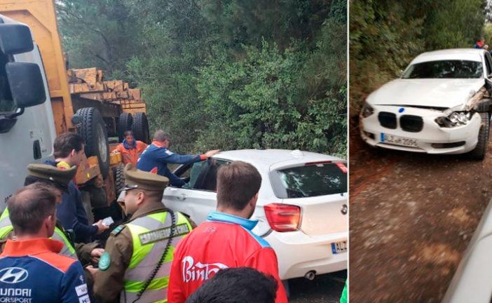 WRC: Sébastien Loeb choca con un camión en la previa del Rally Mundial