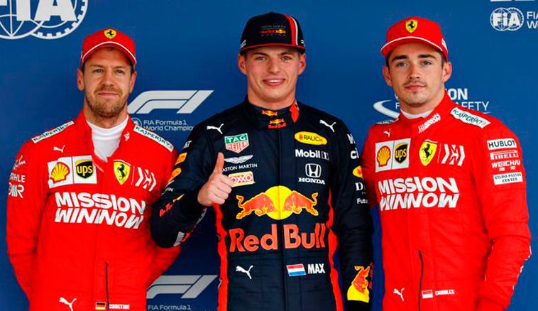 Fórmula 1: Verstappen se impone a Ferrari con la Pole
