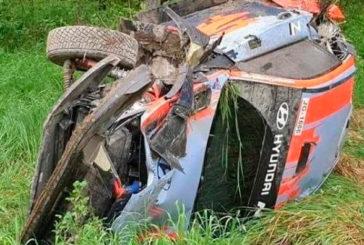WRC: Thierry Neuville volvió a probar y volcó