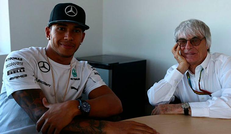 Fórmula 1: Ecclestone, a Hamilton: «Sin mi educación, quizá la F1 no habría sido lo mismo para ti»
