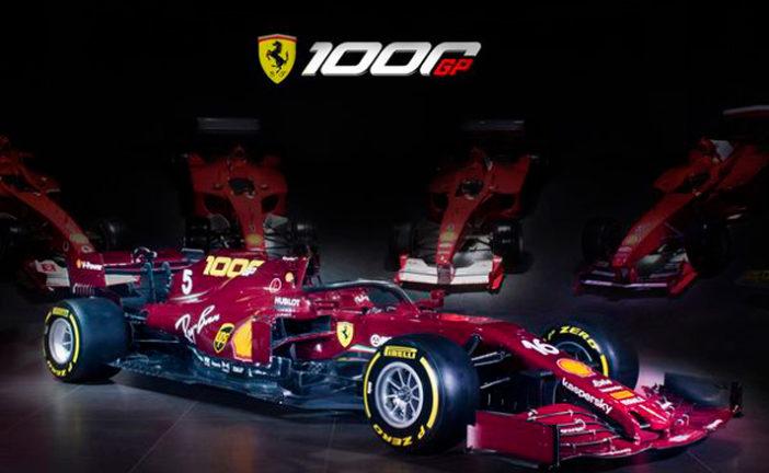 Fórmula 1: Ferrari presenta su decoración especial para su GP 1.000