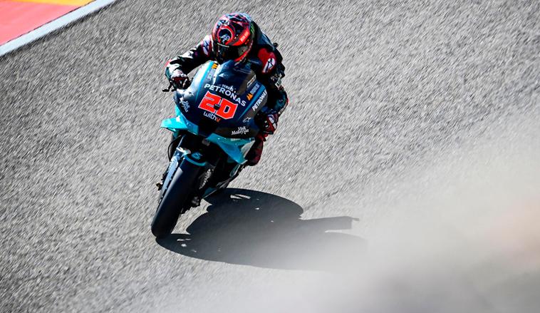 MotoGP: Quartararo logra la pole del GP de Aragón tras una dura caída
