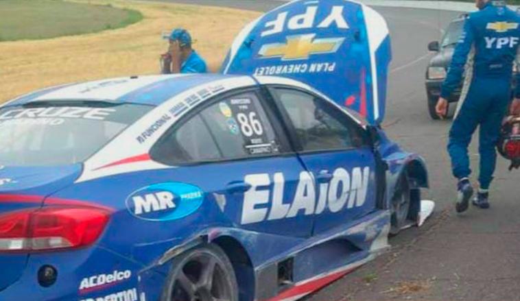 STC2000: Accidente de Canapino en las pruebas realizadas en Rafaela