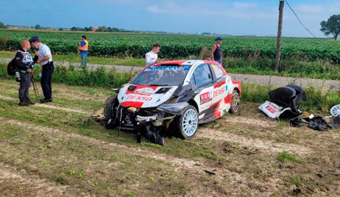 WRC: Brutal accidente de Fourmaux en el Rally de Bélgica