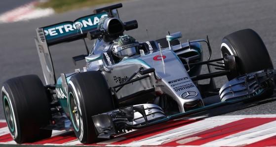 F1 Test Barcelona Día 2: Rosberg pulverizó los tiempos