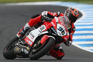 Leandro Mercado terminó 8° y 7° en las carreras de Súperbike en Aragón