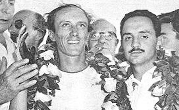 25 de Enero de 1955, Enrique Díaz Sáenz Valiente / José María Ibáñez, ganaban los 1000 Km de Bs.As.